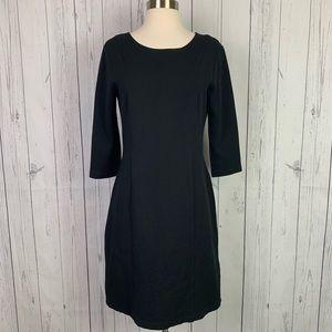 Theory   black dress   3/4 sleeve work wear
